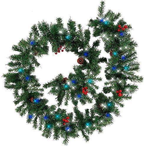 DINEGG 1 stück Weihnachten Künstliche Rattangirlande Weihnachtsbaum DIY Hängende Gewebte Girlanden Handwerk Weihnachtskranz Home Decoration (Größe: Stil 3), Größe: Stil 4 QQQNE