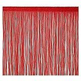 Borla con flecos 20 cm de ancho 2 yardas de largo para accesorios de ropa Vestido de novia latino Decoración de bricolaje (Rojo)