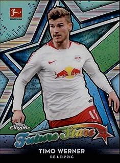 2018-19 Topps Chrome Bundesliga Future Stars Refractor #FS-TW Timo Werner RB Leipzig Official Soccer Futbol Trading Card