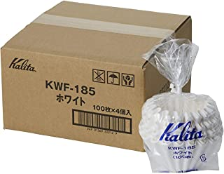 Value 4 pack Kalita 22212 Wave Filters, 185, Pack of 100 (Total 400), White (Japan Import)