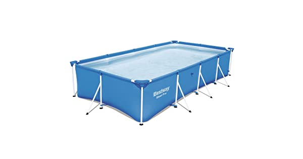 Piscina con Anillo Hinchable, Rectangular, 5700 L, Azul, PVC, Acero Bestway Steel Pro 56405 Piscina