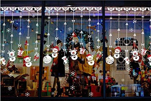 Kerstmis kralen gordijn winkels showcase bruiloft restaurant Koffie creatieve kleding gordijnen glazen deur muur sticker decor posters, Kerstmis Sneeuwman kraal gordijn,