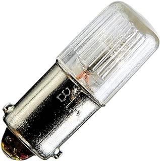 Satco NE51H Miniatures Miniature Light, 0.14W BA9s T3 1/4, Clear Bulb