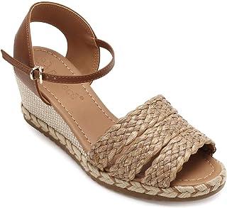 7671f6f241 Moda - Marrom - Sandálias   Calçados na Amazon.com.br