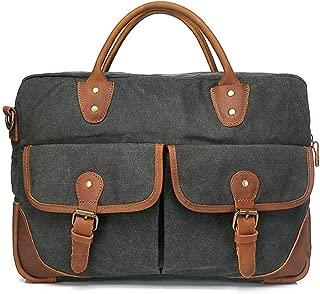 Mens Bag Shoulder Bag Color:blue Simple Retro Zipper Briefcase Computer Bag Canvas Messenger Bag High capacity
