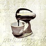 Feeling at home Lienzo-con-AMERICANO-CAJA-Cocina-Ayuda-IV-Venter-Tandi-Cocina-Fine-Art-impresión-sobre madera-marco-Cuadrado-32x32_in