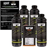 U-POL Raptor Black Urethane Spray-On Truck Bed Liner & Texture Coating, 4 Liters