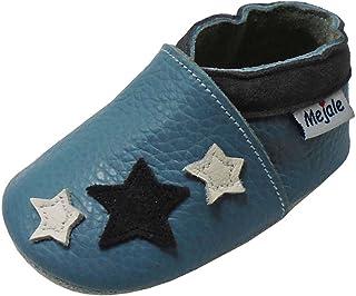 Mejale Chaussons Cuir Souple Chaussures Cuir Souple Chaussons Enfants Pantoufles Chaussures Premiers Pas Dessin animé Papi...
