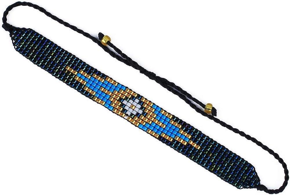 C·QUAN CHI New Rainbow Colors Wrap Bracelets Miyuki Beads Bracelets Handmade Womens Friendship Bracelets