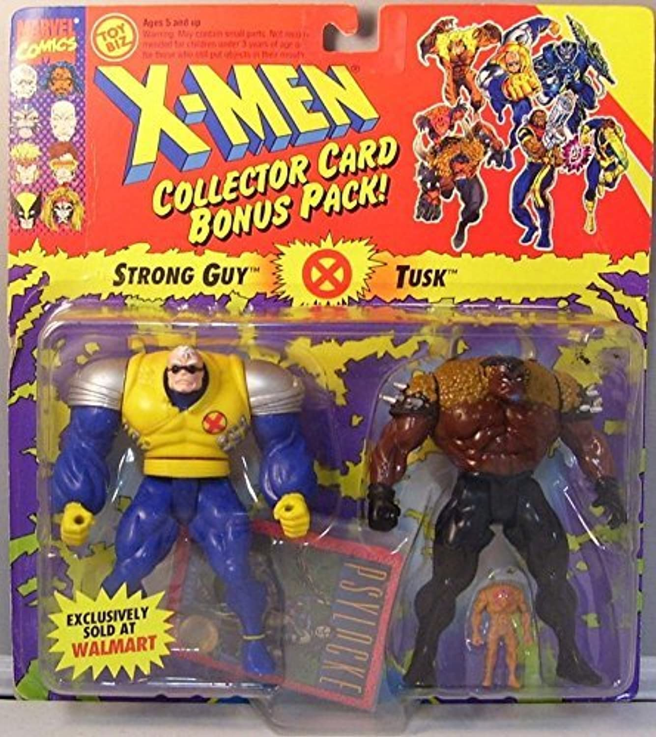 X-Men Collector Card Bonus Pack Strong Guy and Tusk Exclusive by X-Men Action Figures