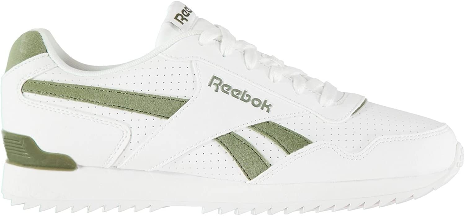 Original shoes Reebok Royal Glide Ripple Clip Trainers Mens White Green Sports shoes Sneakers