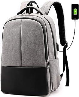 Mochila masculina TENDYCOCO para laptop com porta de carregamento USB, tecido Oxford