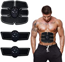 Forcado Body Mobile-Gym 6 Pack EMS Tummy Flatter, Weight loss Muscle Toning/Fitness Technology Kit 6 Pack Abs, Wireless Electro Pad Portable Gym Trainer for Men/Women