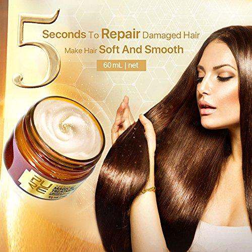 MerryDate Masque capillaire magique,Advanced Molecular Hair Roots Treatment Care Repair Cheveux Conditionneur,Traitement nourrissant Spécialiste de la réparation douce et lisse,60/120ml (60ml)