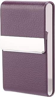 Fdit Fashionable Cigar Cigarette Case Tobacco Lighter Holder PU Leather Storage Box Cigarette Case Wallet Purple
