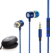 WeCool Mr.Bass W004 in-Ear Wired Earphones with Mic,Deep Bass HD Sound Mobile Headset with Noise Cancellation,Mobile Phone headsets,Ear Phone with mic and Free Carry Case(Black)