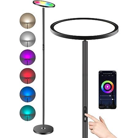 Anten Lampadaire LED 25W Lampe Sur Pied Salon LED Intelligent avec Application Alexa &t Google Assiatant Tactile/Vocale Luminosité Coloré Variable