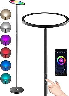 Anten Lampadaire LED 25W Lampe Sur Pied Salon LED Intelligent avec Application Alexa &t Google Assiatant Tactile/Vocale Lu...