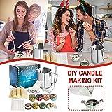 Suministros para hacer velas, kit de fabricación de velas, cera de abeja, arte y manualidades para adultos, juego de regalo incluye tarro de cera de abeja, mecha de velas, cuchara
