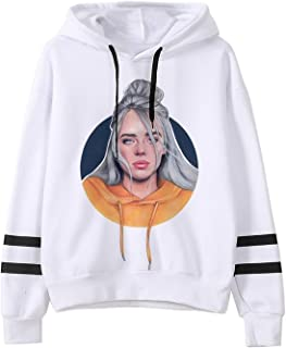 VINHAN All The Good Girl Go to Hell I Dont Wanna Be You Anymore Billie Eilish Hoodie White Casual Hooded Merch Lovely