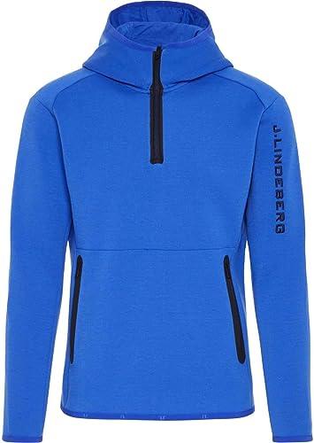 J.Lindeberg - Logo Hood Tech Sweat Hommes Powerstretchhoodie (Bleu)