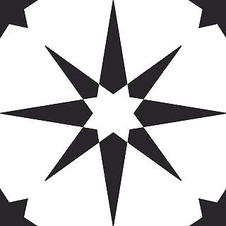 FloorPops FP2948 Altair Peel & Stick Floor Tile, Black
