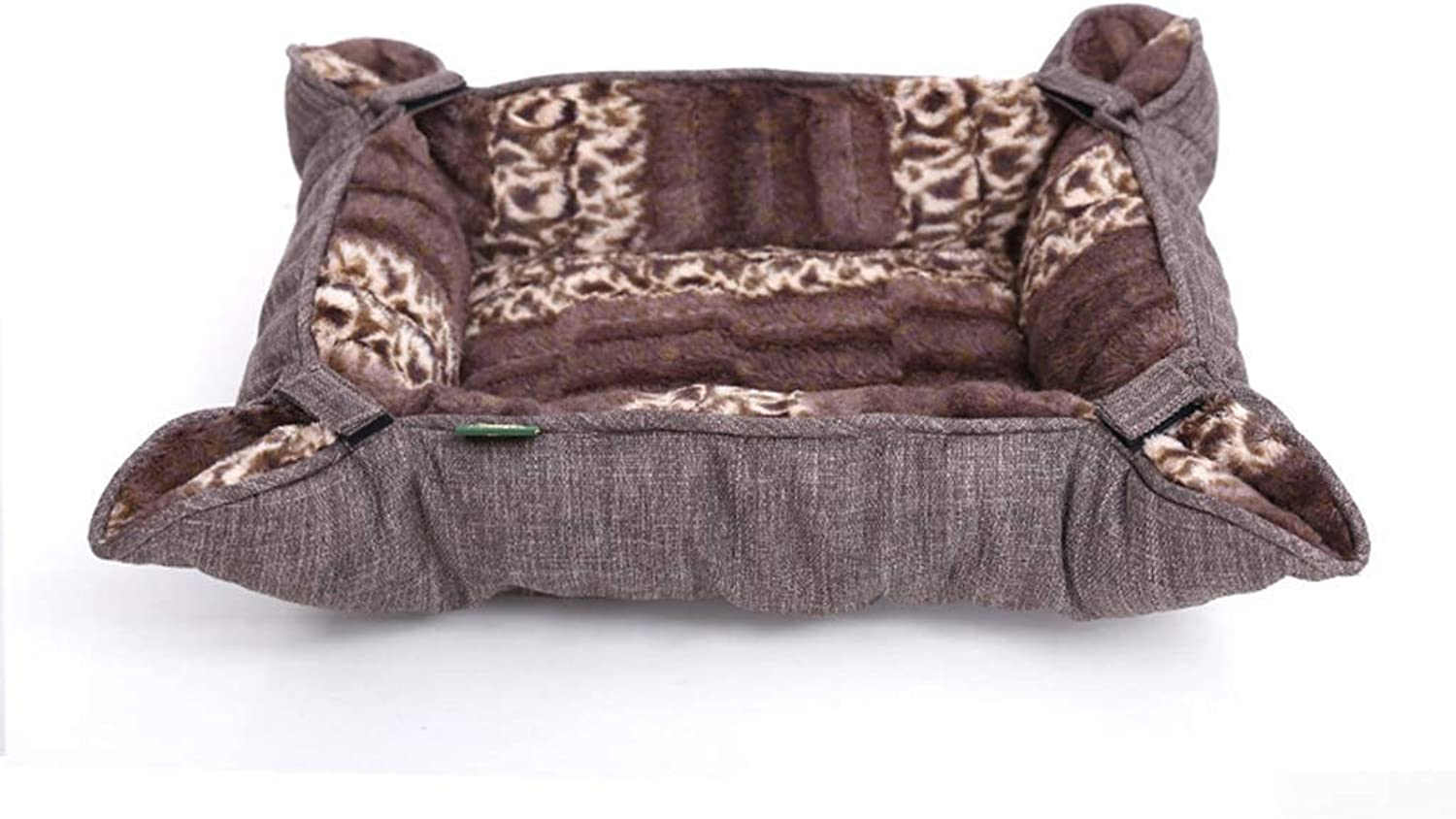 Pet bed Pet Bed, Pet Nest, Creative Kennel Cushion Cage, Autumn and Winter Variable Nest (Size   S)