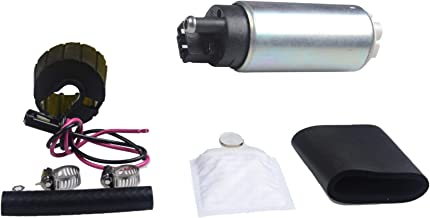PLDDE New 1pc Genuine 255 LPH High Flow OE Upgrade Performance Electric Gas Intank EFI Fuel Pump With Strainer/Filter + Rubber Gasket/Hose + Clamps + Universal Wiring Harness/Plug Pigtail Connector