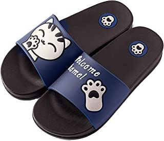 Unisex Adults' Pool Shoes Mens Womens Classic Beach Slippers Slide Sandals Bathroom Slipper Soft Flip Flops Summer Anti-Sl...