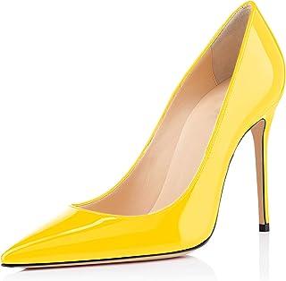 elashe - Escarpins Femme - 10cm Sexy Talon Aiguille - Stiletto Soir Fête Chaussures