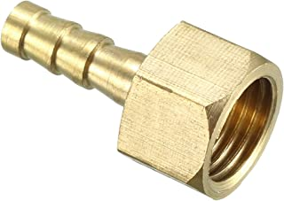 uxcell Brass Barb Hose Fitting Connector Adapter 6mm Barbed X G1/4 Female Pipe