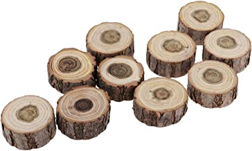 HOMYL 10Pcs Rund Wooden Doll Display Base Stand D 3-4cm T 1cm for War Games Warhammer Table Toy