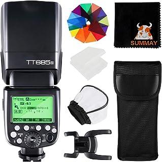 Godox TT685N TTL Cámara Flash HSS 1 / 8000s GN60 2.4G 0.1-2.6s Tiempo de Reciclaje 230 Flashes Completos de Potencia para ...