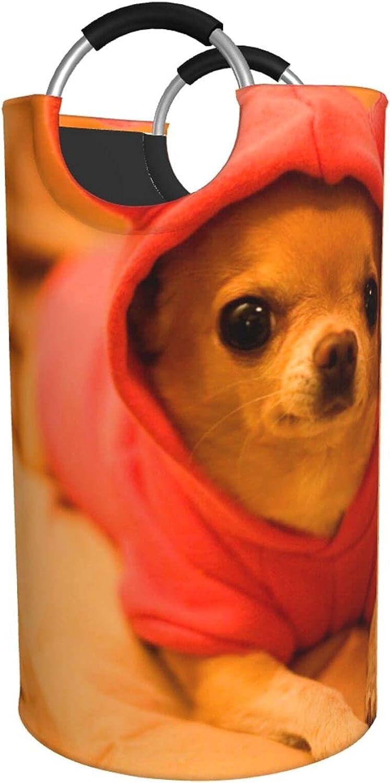 online shop Depressed Chihuahua Print Laundry Hamper Waterproof Regular discount Bag