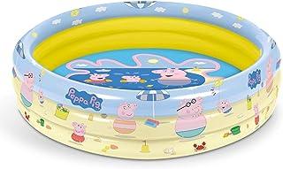 Mondo Toys - Peppa Pig | 3 Rings Pool - Inflatable Pool for Children 3 Rings - Diameter 100 cm - Capacity 84 Lt. - 16642