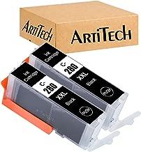 ArtiTech 2 Pack Compatible Ink Cartridge Replacement for Canon PGI-280XXL Black Ink Tank PGI280XXL PGI280 Work for Canon PIXMA TR7520 TR8520 TS6120 TS6220 TS8120 TS8220 TS9120 TS9520 TS9521C Printers