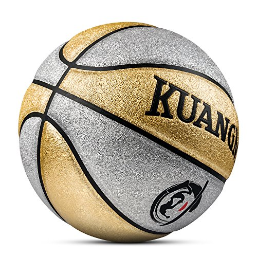 Check Out This Kuangmi Multi-Color Basketball for Junior Kids Child Boys Girls Size 5 27.5 (Gold an...