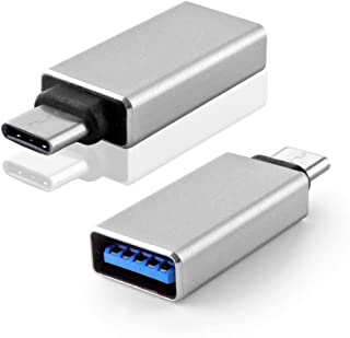 TNP Products USB-C (Type-C) to 3.0 USB-A (Type-A) Adapter Converter Connector - Type C Male to USB 3.0 Type A Female Compatible with The New 2015 Macbook (Silver)