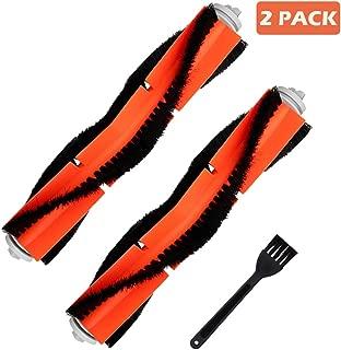 Jorllina 2 Pack Accessories Main Brushes Compatible with Roborock E25 S5 E20 E35 C10 S50 S51 Xiaomi Mi Mijia Robotic Vacuum Cleaner Replacement Parts Kit