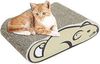 Hovome para Gatos Gato de cart/ón Plano y Duradero con Borde de combinaci/ón de Dos Piezas Garras para Jugar en Cualquier Lugar