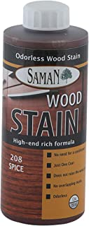 SamaN Interior Water Based Stain for Fine Wood, Spice, 12 oz