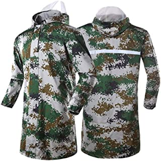Qivor Waterproof clothing Camouflage Long Windbreaker Splash-proof Fishing Poncho Outdoor Breathable Raincoat Men's snow r...