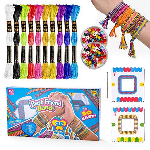 Girls Gift Age 5 6 7 8, Friendship Bracelet Kits for 5-10 Year Old Girls Children Jewellery Making Kit for 4-8 Year Old Girls Toy Charm Bracelet Bead for 6-12 Year Old Kids Girl Birthday Present