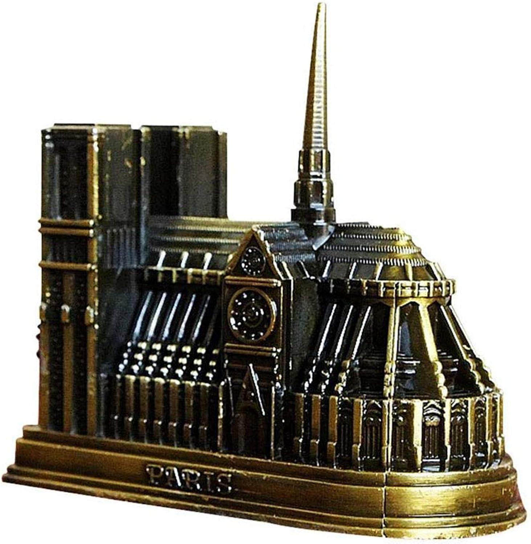 Souvenirs of France, Paris Building Model Metal Statue, Notre Dame de Paris Metal Souvenirs Height 10cm  3.9in