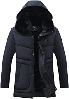 GAGA Men's Puffer Jacket Thicken Padded Quilted Coat with Removable Hoodies