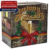 Bier-Adventskalender, 24 x 0,33 L Flaschen deutsche Bierspezialitäten von Privatbrauereien und 1 Verkostungsglas, neue Bestückung 2020, Geschenkidee zur Vorweihnachtszeit für alle Bierliebhaber