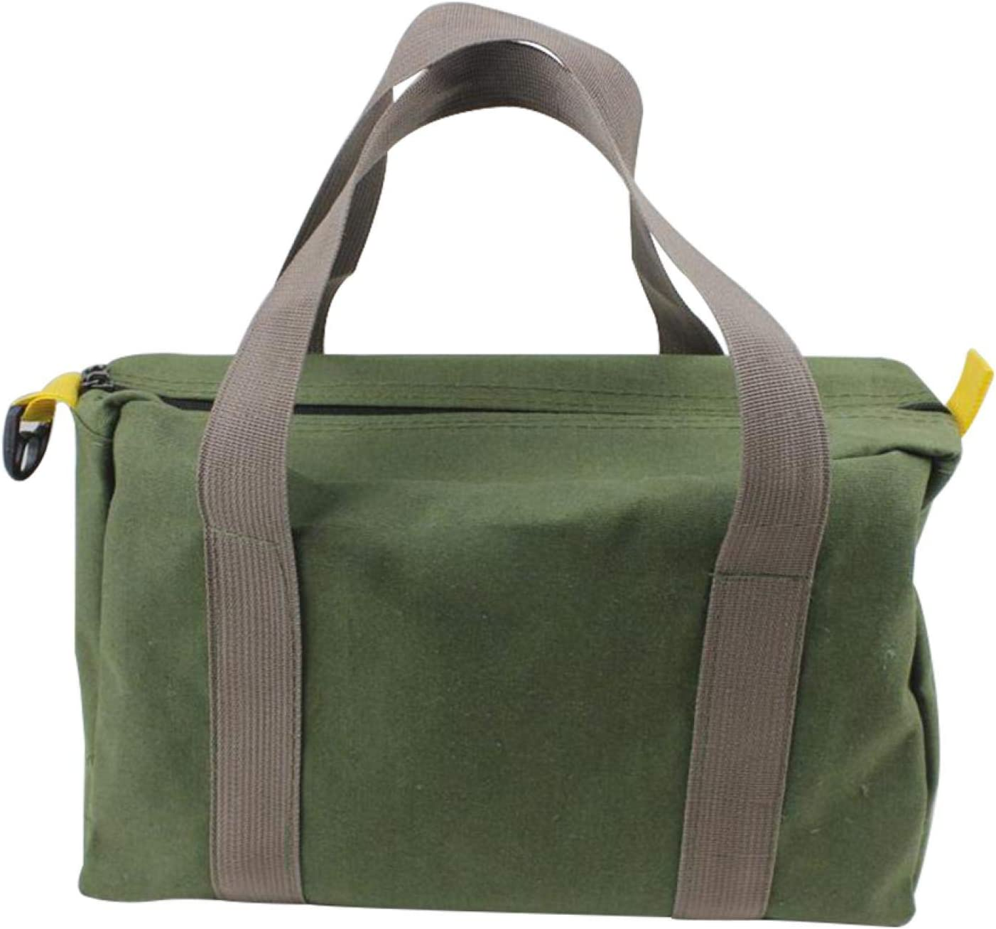 Heavy Duty Canvas Tool Bag, Multi-function High Capacity Tool St