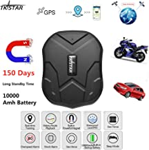 Vehicle GPS Tracker,TKSTAR Strong Magnetic GPS Tracker, 150 Days Long Standby GPS, Vehicle Tracker Real Time Monitoring System, Waterproof GPS Locator, Anti Lost GPS Tracking Device with Free APP
