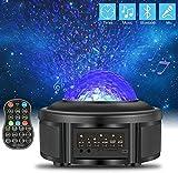 ZWOOS Proiettore Stelle Soffitto - Galassia Proiettore con Bluetooth - Lampada Notturna per Bambini - Luce Notturna con Telecomando