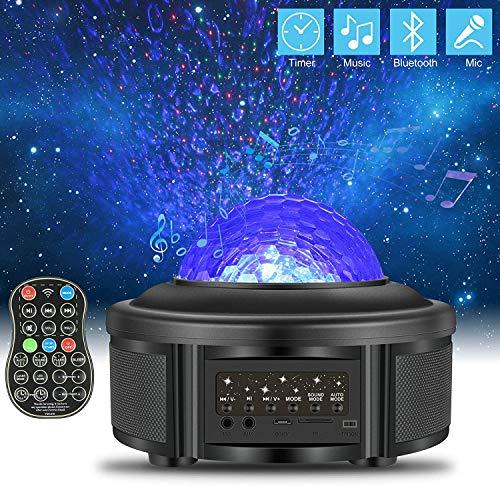 ZWOOS Proyector Estrellas - Luz Galaxia Techo - Lámpara Bebe Nocturna con Bluetooth - Luz Infantil Nocturna con Control Remoto
